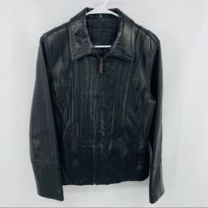 Avanti New York Black Leather Jacket